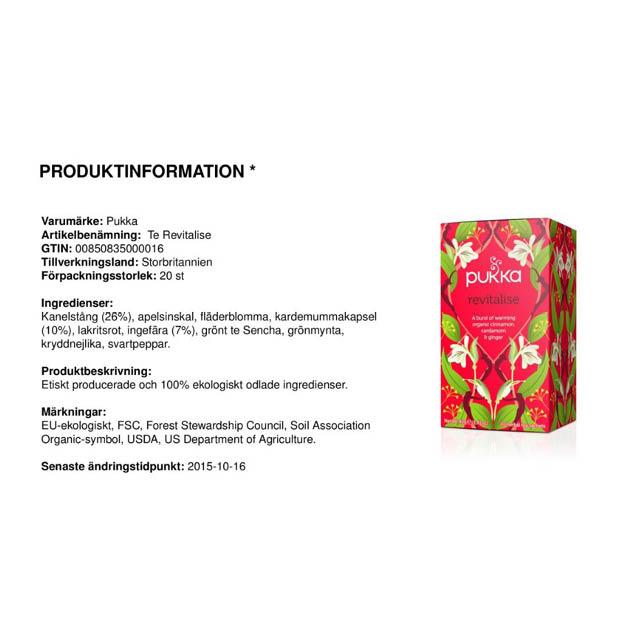 produktbild på produktblad